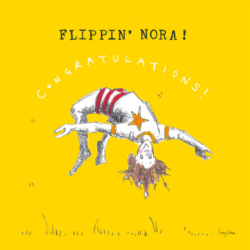 Flippin' Nora Greeting Card - Poet and Painter