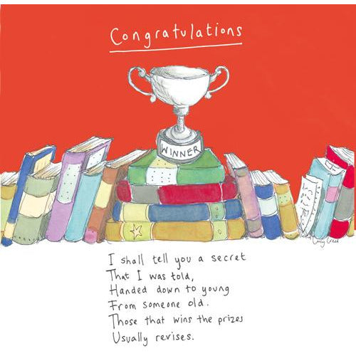 Red Congratulations Card - Poet and Painter