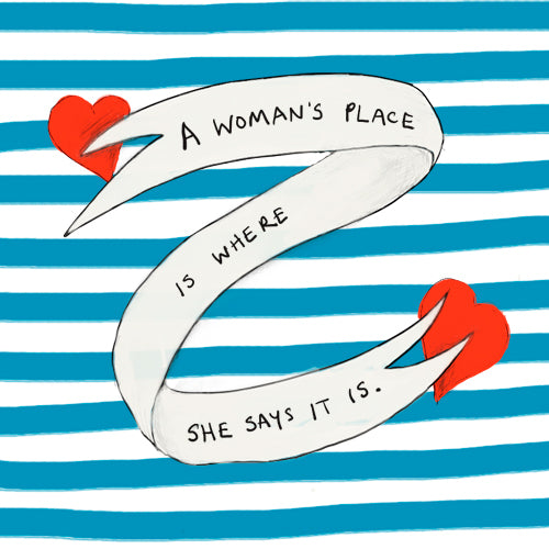 A Woman's Place Greeting Card - Poet and Painter