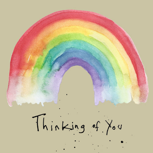 Thinking of You Rainbow Greeting Card - Poet and Painter