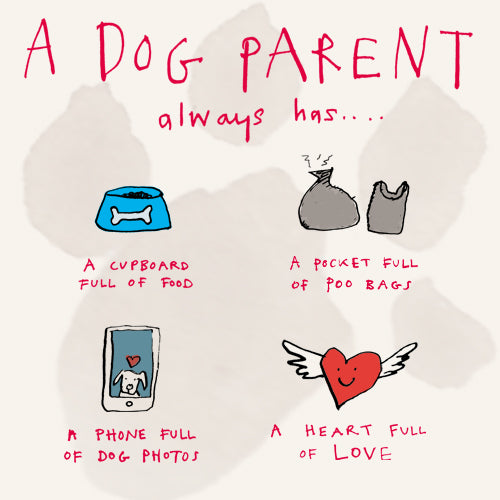Dog Parent Greeting Card - Poet and Painter