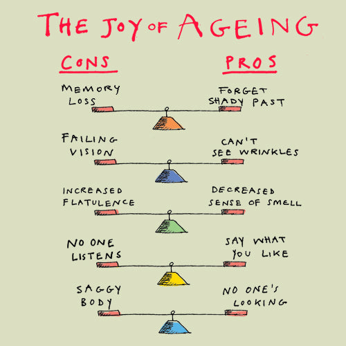 The Joy of Ageing Greeting Card - Poet and Painter