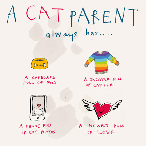 Cat Parent Greeting Card - Poet and Painter