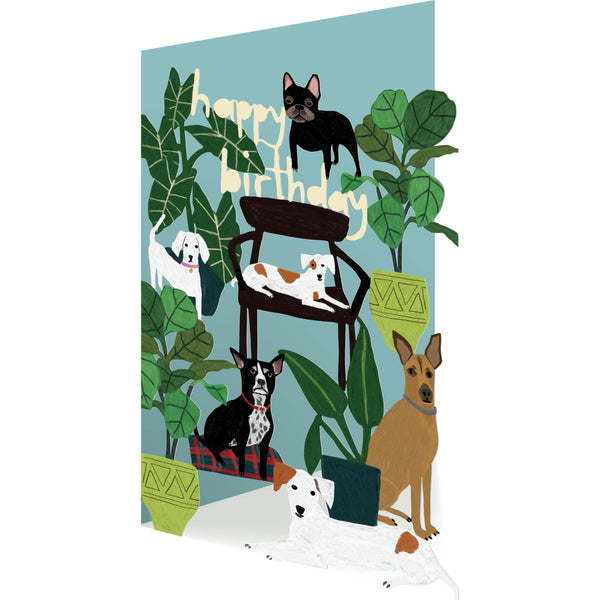 Dogs, Lasercut Greeting Card - Roger La Borde