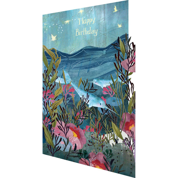 Sea Dreams, Lasercut Greeting Card - Roger La Borde by Kendra Kinney
