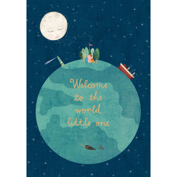 Welcome To The World Greeting Card - Roger La Borde by Katherine Quinn