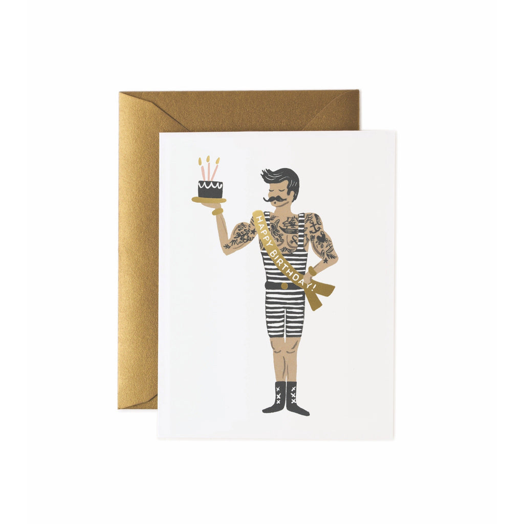 Strongman Birthday Card - Rifle Paper