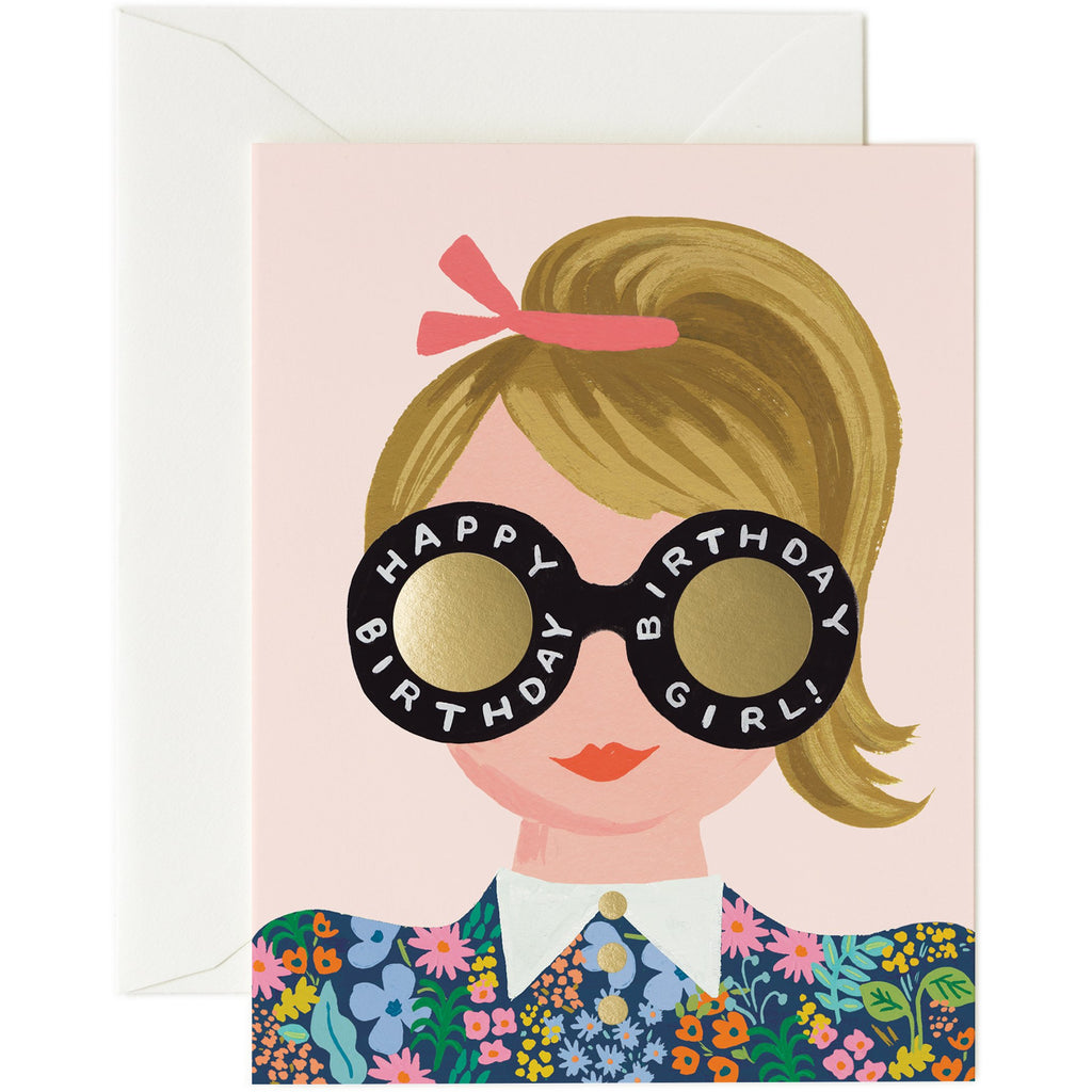 Meadow Girl Birthday Card - Rifle Paper