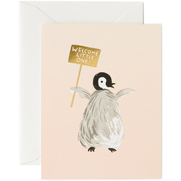 Welcome Penguin Greeting Card - Rifle Paper
