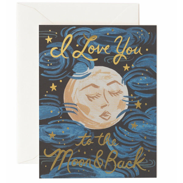 To The Moon And Back Greeting Card - Rifle Paper