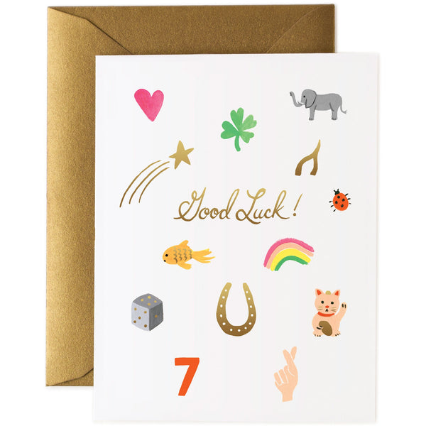 Good Luck Charms Greeting Card - Rifle Paper