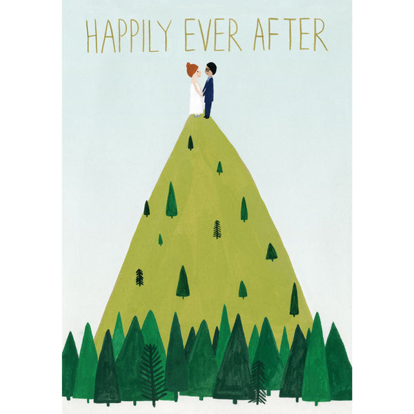 Hilltop Wedding Greeting Card - Roger La Borde by Kate Pugsley