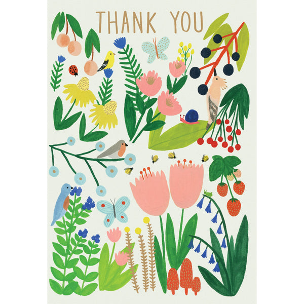 Garden Thank You Greeting Card - Roger La Borde by Kate Pugsley