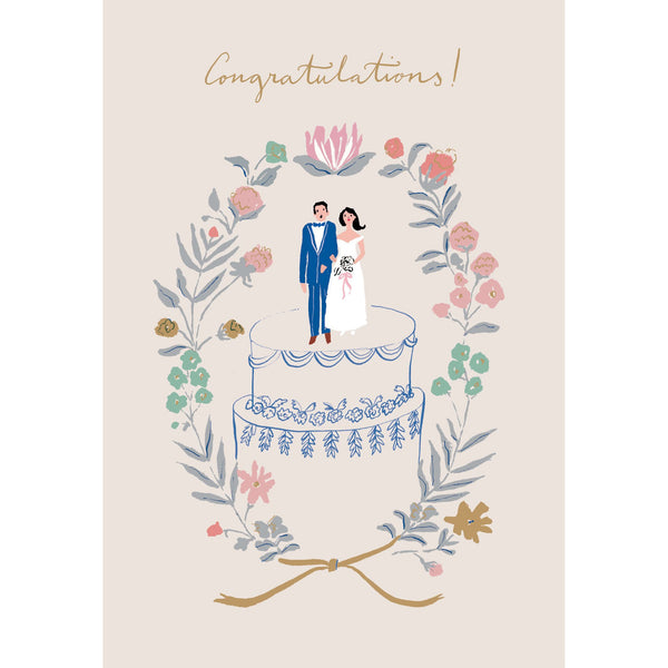 Wedding Congratulations Greeting Card - Roger La Borde by Emily Isabella