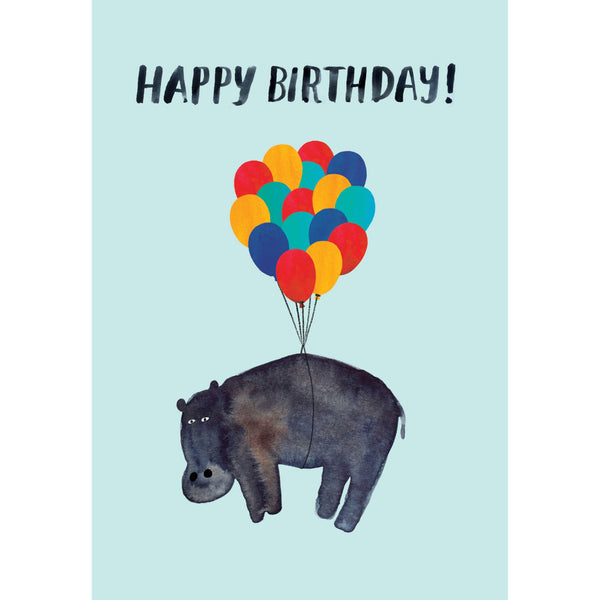 Hippo Birthday, Lasercut Greeting Card - Roger La Borde