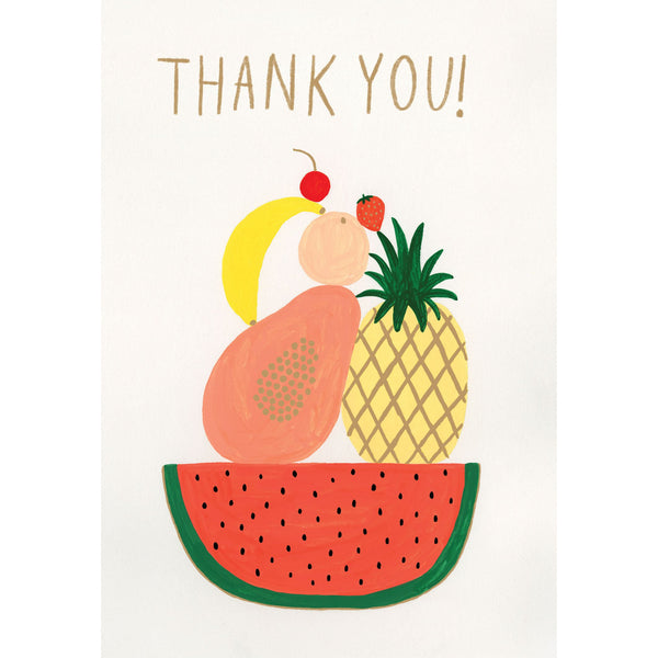 Fruit Bowl Greeting Card - Roger La Borde by Kate Pugsley