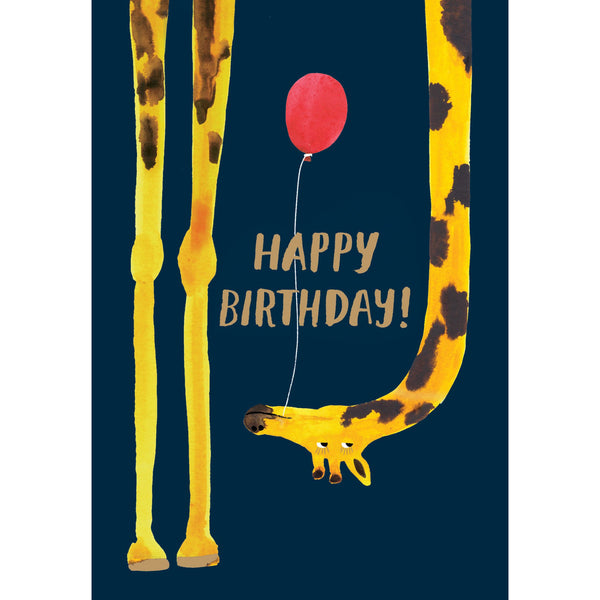 Giraffe Birthday, Lasercut Greeting Card - Roger La Borde