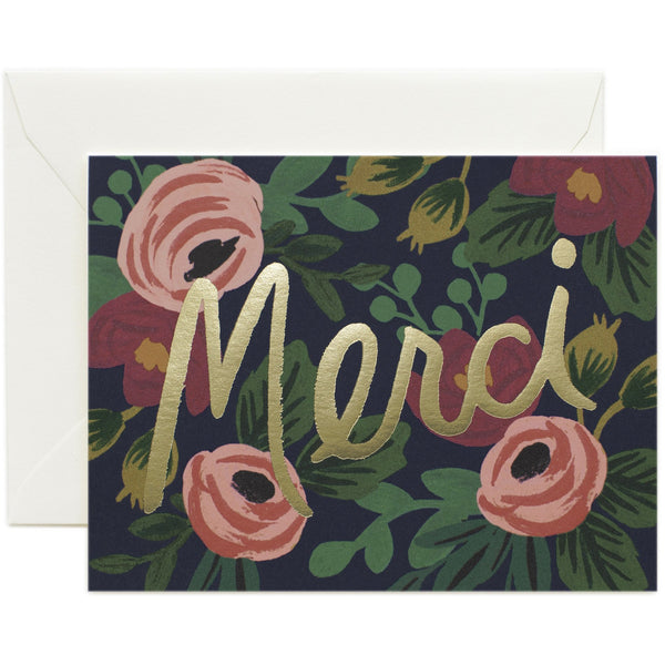 Rosa Merci Greeting Card - Rifle Paper