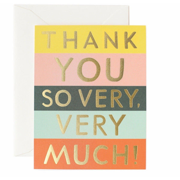 Colour Block Thank You Greeting Card - Rifle Paper