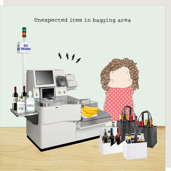 Unexpected Item Greeting Card - Rosie Made A Thing