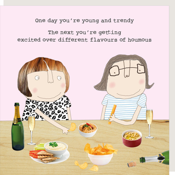 Houmous Greeting Card - Rosie Made A Thing