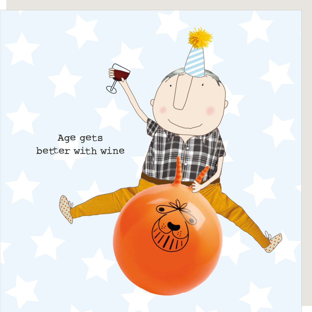 Age And Wine Greeting Card - Rosie Made A Thing