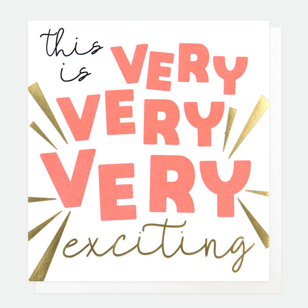 This is Very Very Exciting Greeting Card - Caroline Gardner
