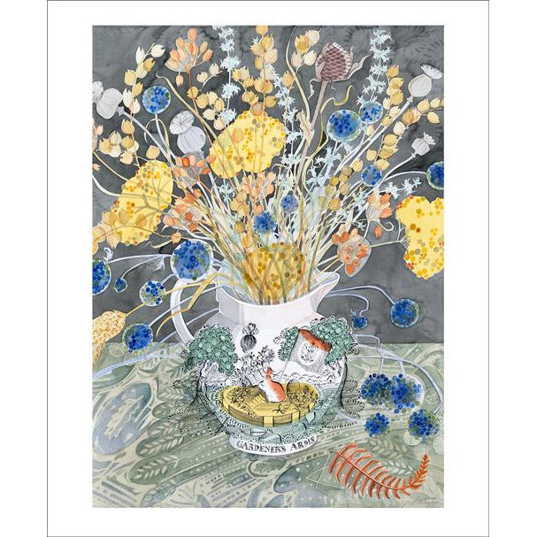Gardener's Arms Watercolour Card - Art Angels by Angie Lewin