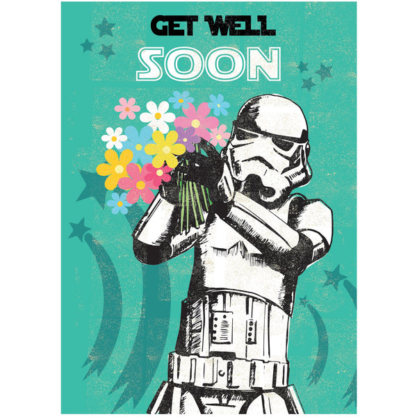 Get Well Soon Greeting Card - Rocket 68 Stormtrooper