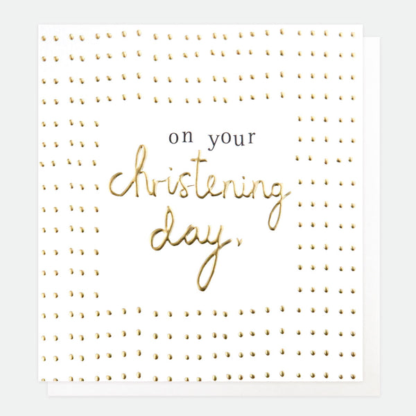 On Your Christening Day Greeting Card - Caroline Gardner