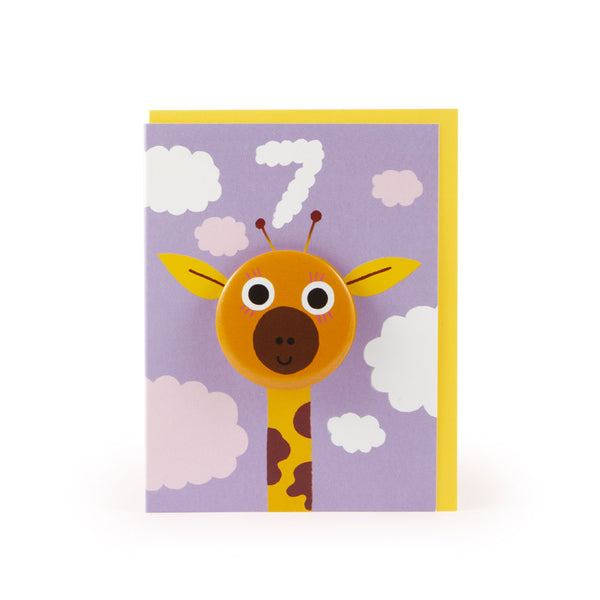 Age 7 Giraffe Hoot Parade Badge Card - U Studio by Rob Hodgson