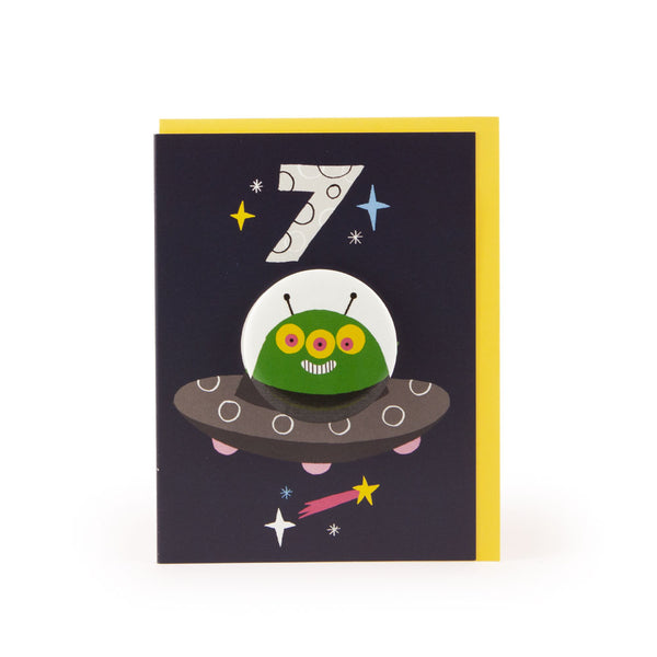 Age 9 Alien Hoot Parade Badge Card - U Studio by Rob Hodgson