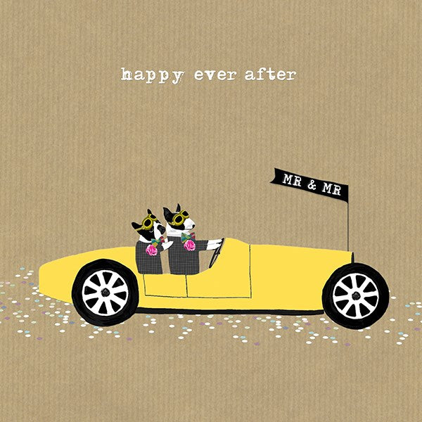 Happy Ever After Gents Greeting Card - Sally Scaffardi