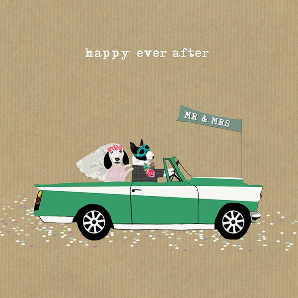 Triumph Herald Wedding Greeting Card - Sally Scaffardi