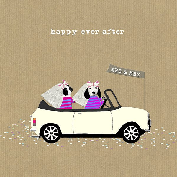 Mini Ladies Wedding Greeting Card - Sally Scaffardi
