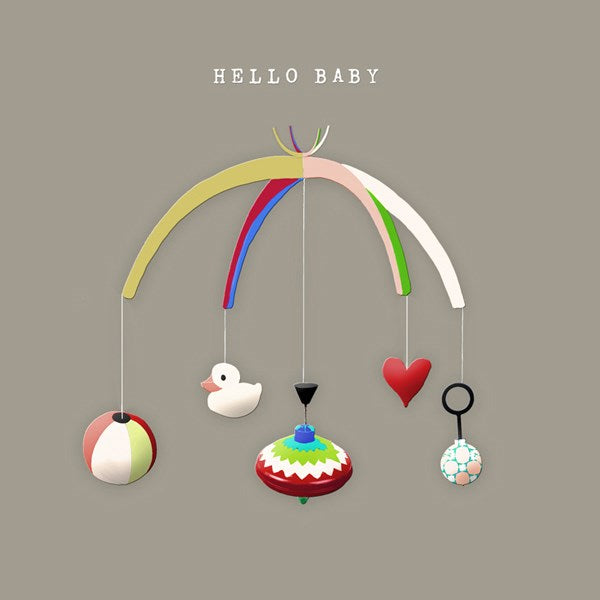 Mobile New Baby Greeting Card - Sally Scaffardi