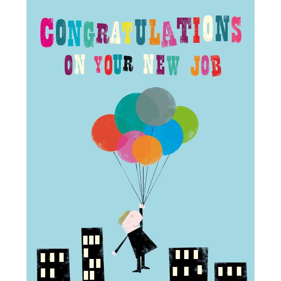 New Job Celebration Card - The Art File