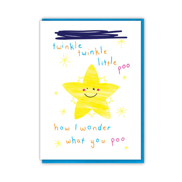 Twinkle Poo Greeting Card - Objectables