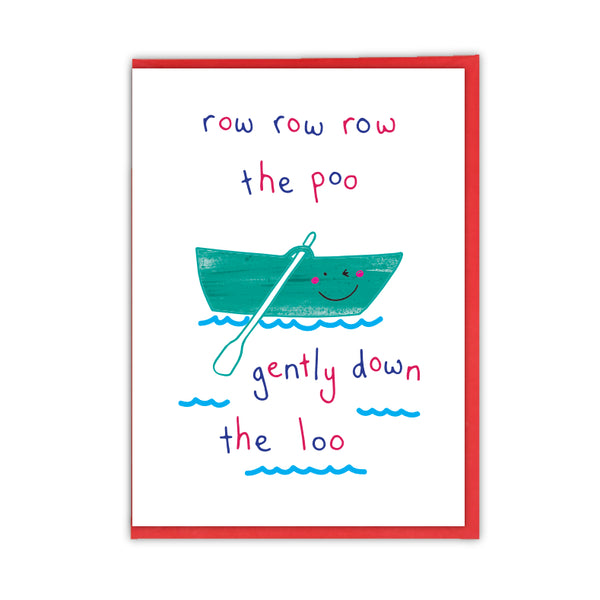 Row, Row Poo Greeting Card - Objectables