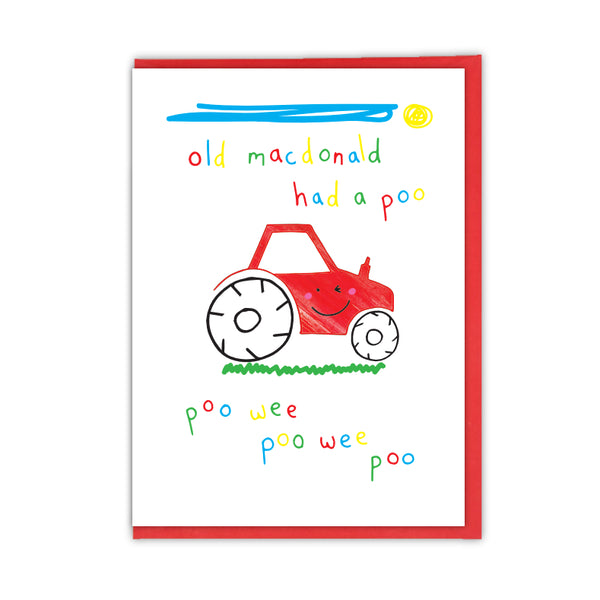 Old MacDonald Poo Greeting Card - Objectables