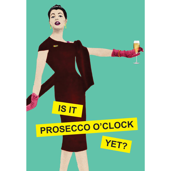 Prosecco Greeting Card - Kiss Me Kwik