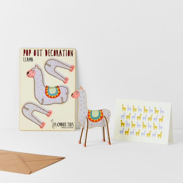 Llama -  The Pop Out Card Co.