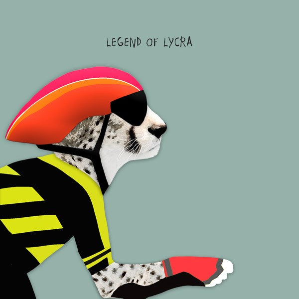 Legend Of Lycra Greeting Card - Sally Scaffardi
