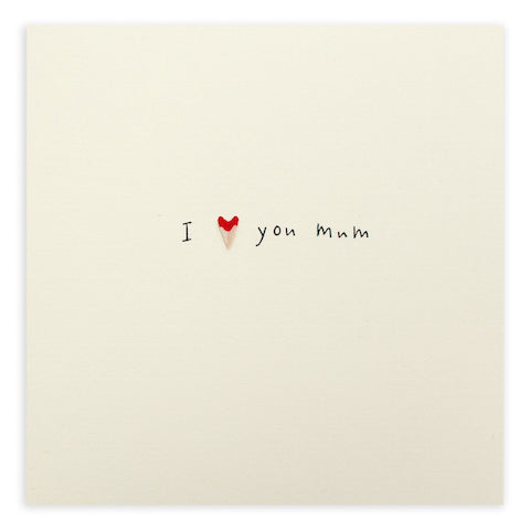 Pencil Shavings I Love You Mum Greeting Card - Ruth Jackson