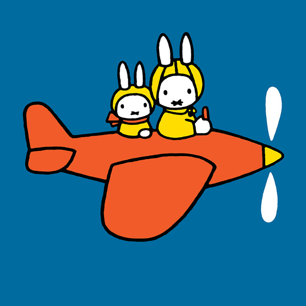 Miffy Plane Square Greeting Card - Hype Cards