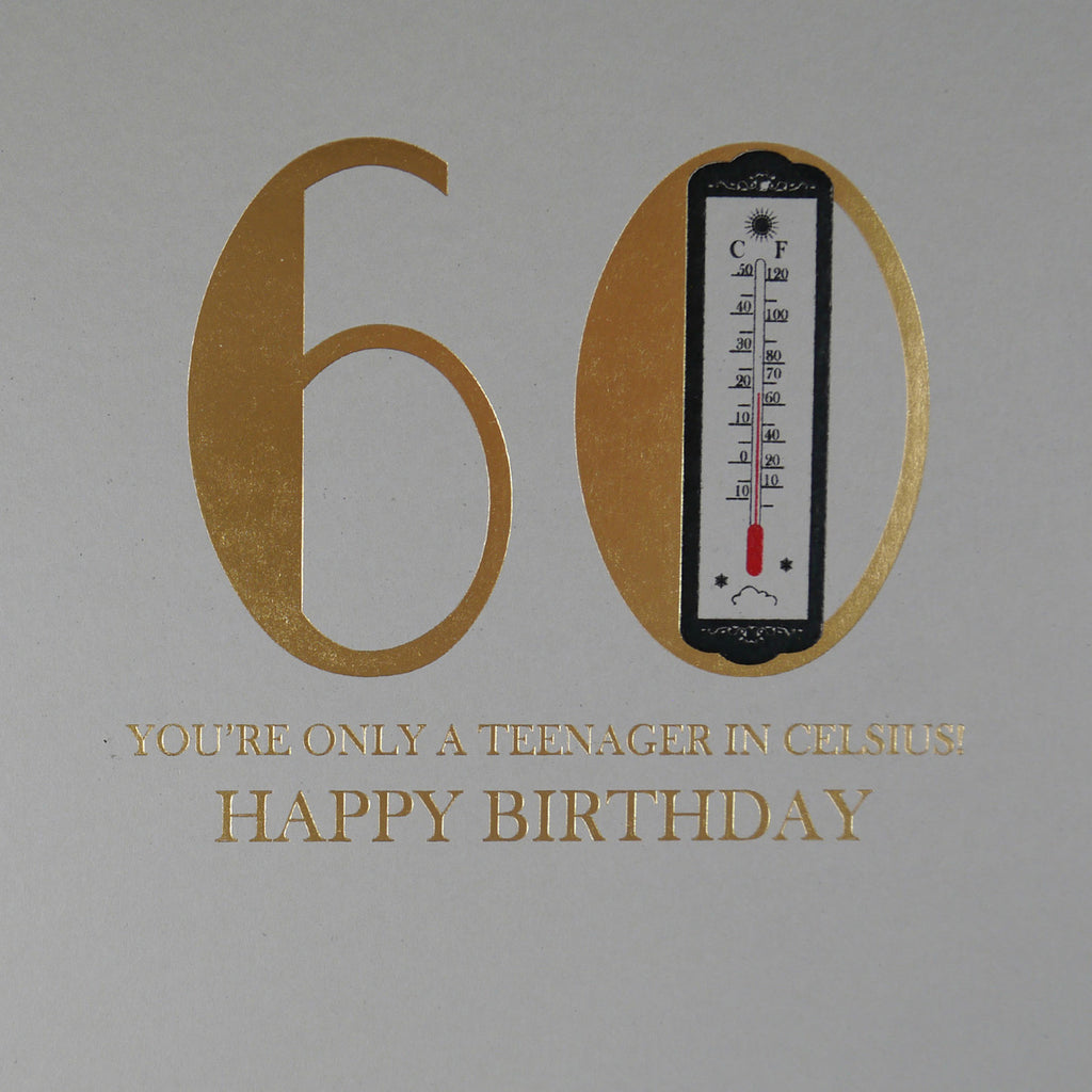 60th Birthday Celsius Greeting Card - Five Dollar Shake