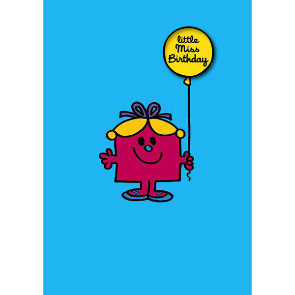 Little Miss Birthday Badge Card - Hype Cards