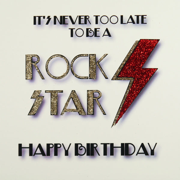Rock Star Birthday Greeting Card - Five Dollar Shake