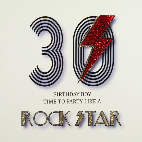 30th Rock Star Birthday Greeting Card - Five Dollar Shake