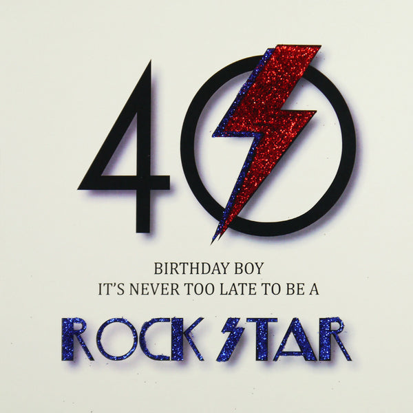 40th Rock Star Birthday Greeting Card - Five Dollar Shake